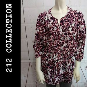 Plus size Blouse 212 collection summer v neck top
